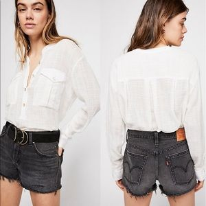 Free People | Talk to Me Button Down